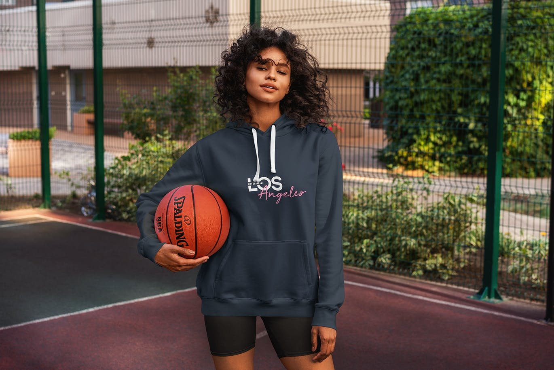 篮球训练服运动服连帽衫卫衣服装设计VI样机展示模型mockups designshidai_yj481