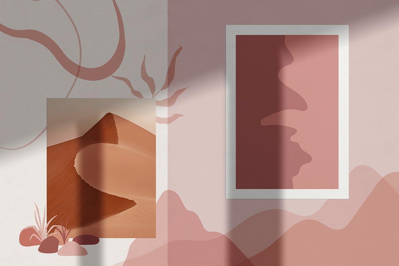 多用途时尚高端清新简约抽象海报设计矢量插画集合designshidai_chahua043