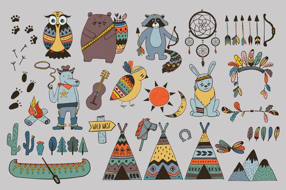 狂野西部图形收藏素材集designshidai_chahua057