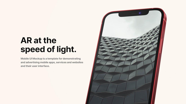 高品质的时尚高端苹果iPhone 12 APP UI手机样机展示模型mockups designshidai_yj521