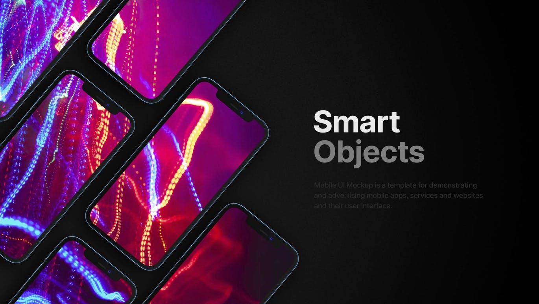 高品质的高端iPhone 12 APP UI样机展示模型mockups designshidai_yj530