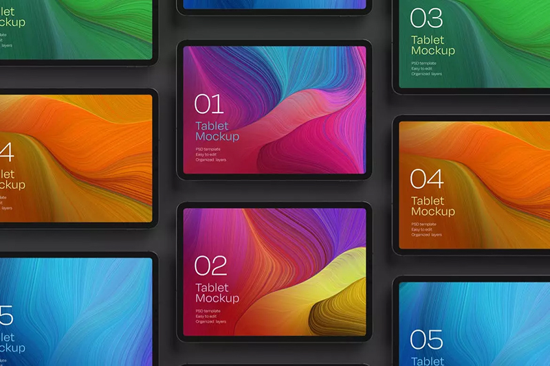 iPad Pro平板电脑屏幕展示样机集designshidai_yj486