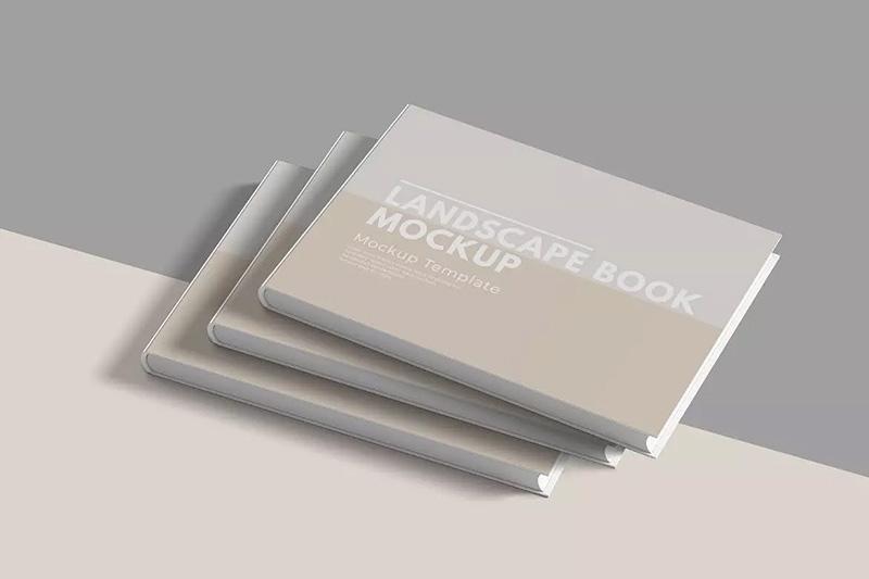 横版尺寸杂志画册/书籍封面设计样机designshidai_zazhi046