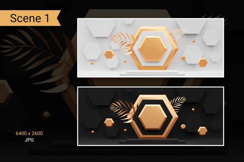 时尚高端C4D渲染风格的3D立体室内背景底纹纹理集合designshidai_beijing122