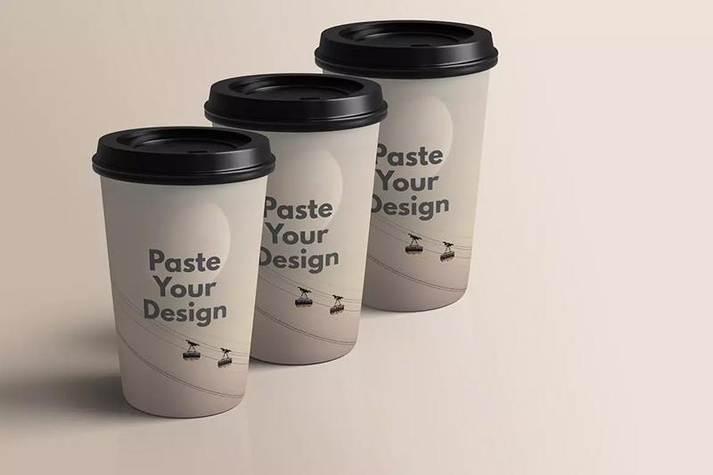 咖啡店商品咖啡杯纸杯广告模型包装样品designshidai_yj596