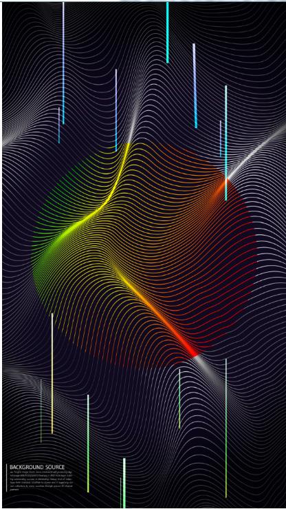 黑色波纹&渐变圆形抽象背景图形设计psd素材designshidai_beijing134