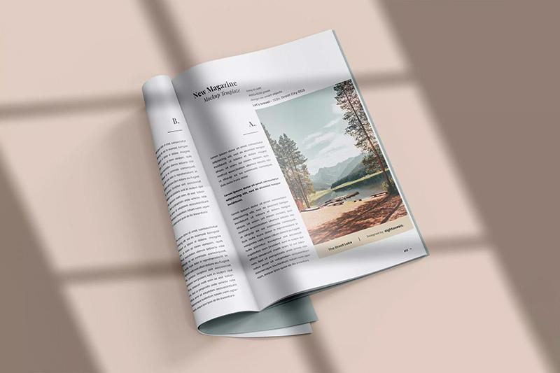 窗户阴影杂志效果图样机模板designshidai_zazhi047