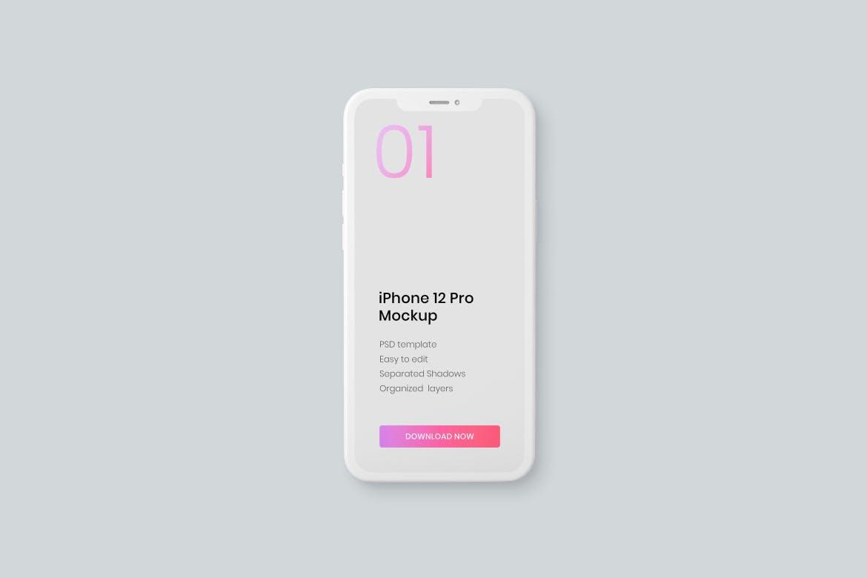 iPhone 12 Pro 单色外壳手机样机designshidai_yj543