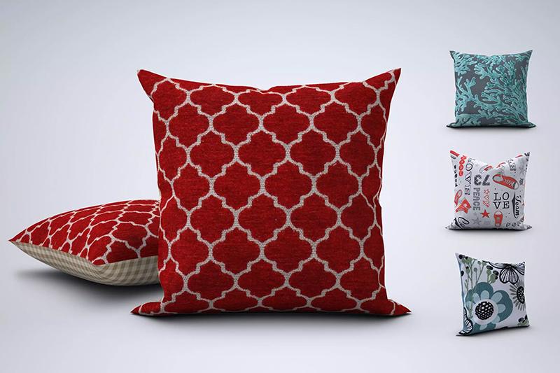靠枕/抱枕图案设计样机模板designshidai_yj507