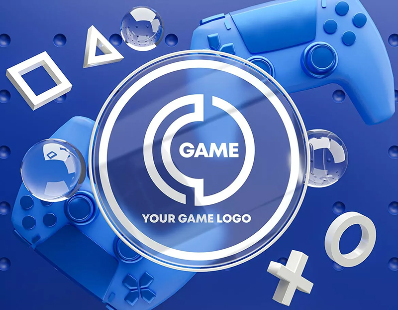 游戏手柄&玻璃Logo样机素材包designshidai_yj511