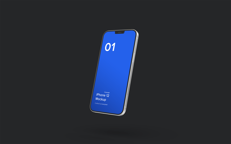 最新的iPhone 12设计样机下载designshidai_yj549