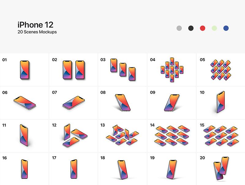 iPhone 12-20个样机场景合集designshidai_yj563