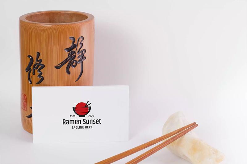 亚洲中华美食品牌形象日式名片卡片VI样机designshidai_yj585