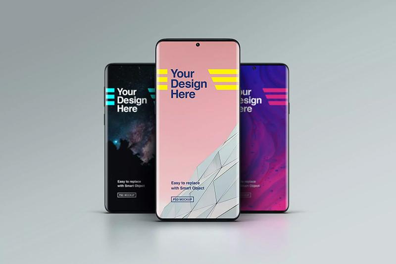 智能手机样机模板-前视图designshidai_yj484