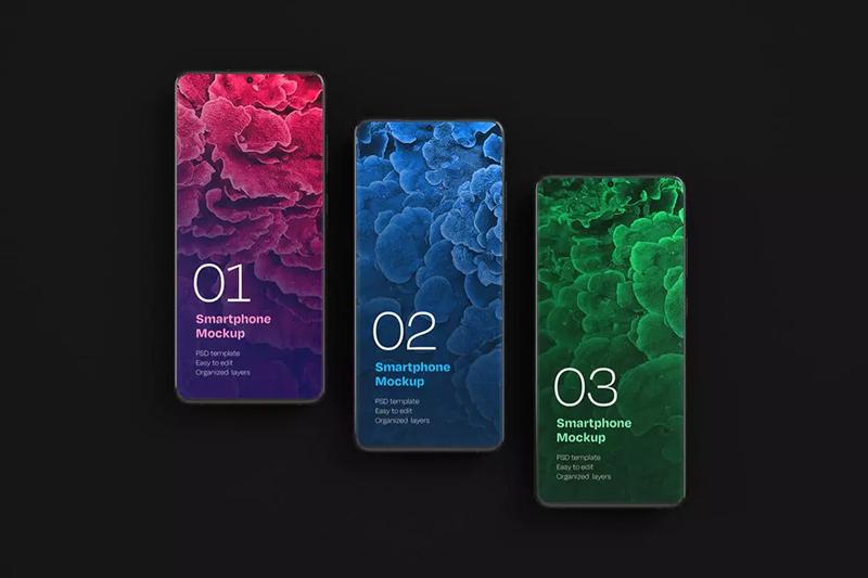三星Galaxy S20 Ultra安卓手机屏幕展示样机集designshidai_yj559