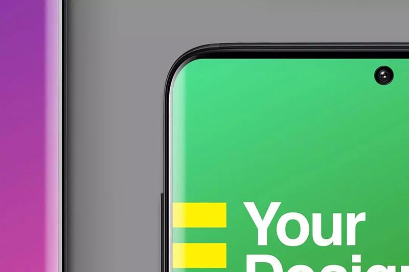 黑色智能安卓手机样机UI展示效果模板套装designshidai_yj488
