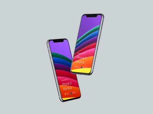 特酷场景里的iPhone X 智能手机样机&场景designshidai_yj566