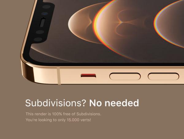 iPhone 12 PRO 奢华金色版3D模型designshidai_yj522