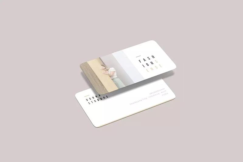 极简主义小清新名片圆角模型样品designshidai_yj569
