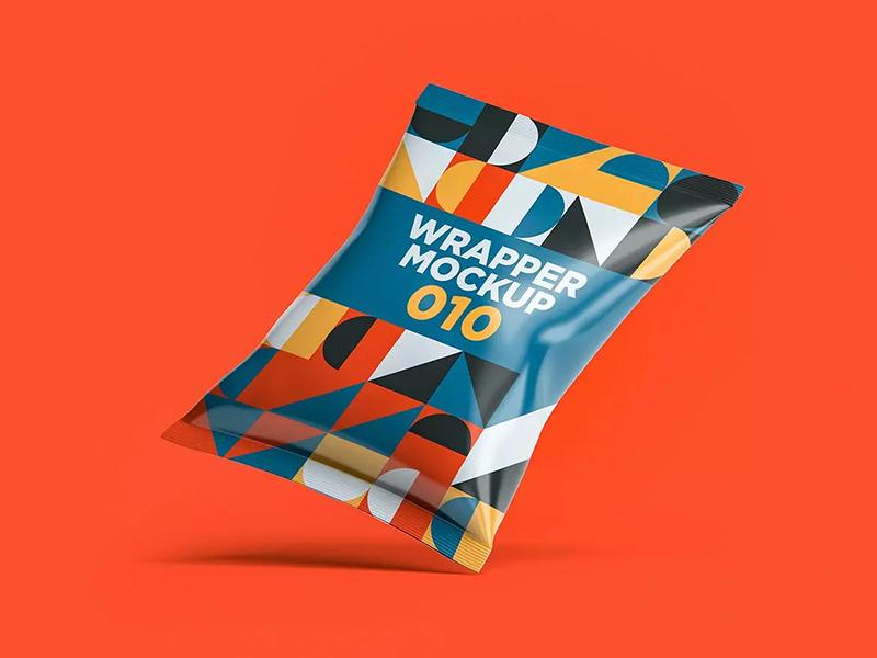 小吃包装袋外观设计样机模板designshidai_yj600