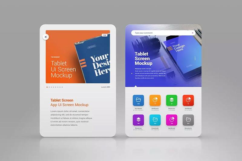 智能平板电脑演示模板广告设计展示designshidai_yj495