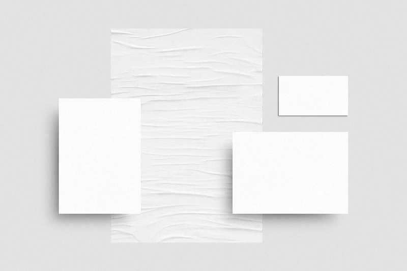 混凝土墙背景办公文具展示设计品牌VI样机designshidai_yj510