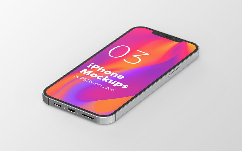 高端iPhone 12 手机产品样机designshidai_yj534