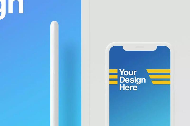 平板电脑& iPhone X苹果设备样机模板designshidai_yj560