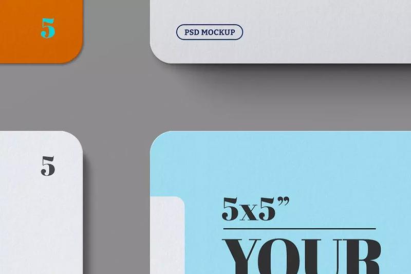 5×5方形尺寸名片/纸张样机designshidai_yj575