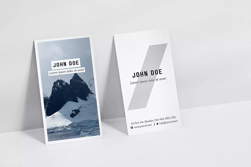 竖版设计企业名片效果图样机designshidai_yj587