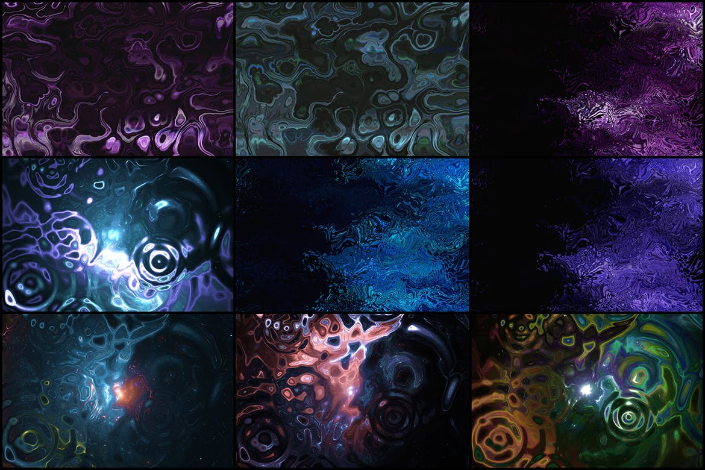 50个时尚高端抽象多用途的液体背景底纹纹理集合designshidai_beijing117
