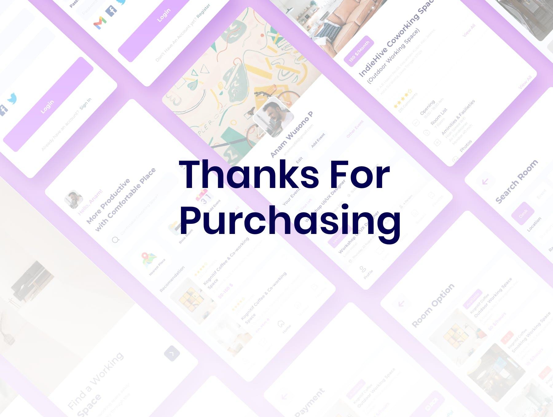 线上预约服务高端紫色租房APP UI KIT designshidai_ui224
