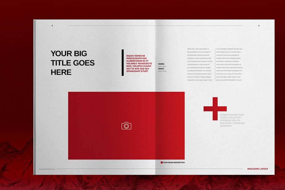 红色主题时装设计师杂志图册模板designshidai_yj607