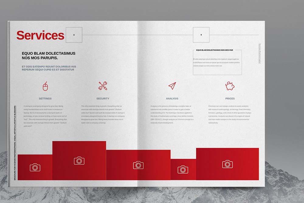 商业服务业务宣传册设计模板designshidai_yj608