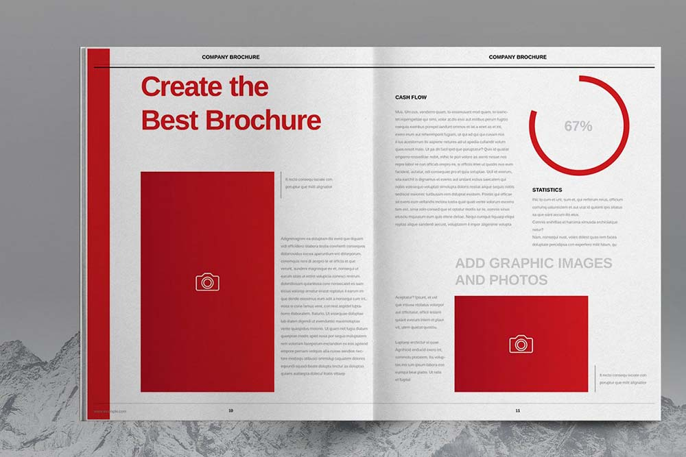 多用途红色宣传册模板designshidai_yj611