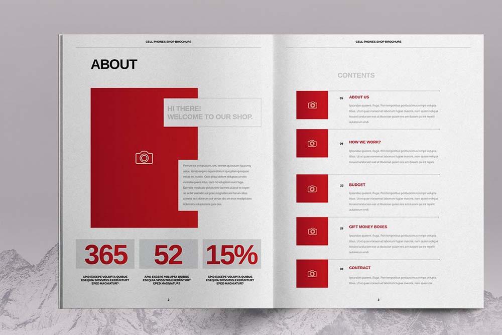 手机店产品介绍宣传册版式设计模板designshidai_yj614