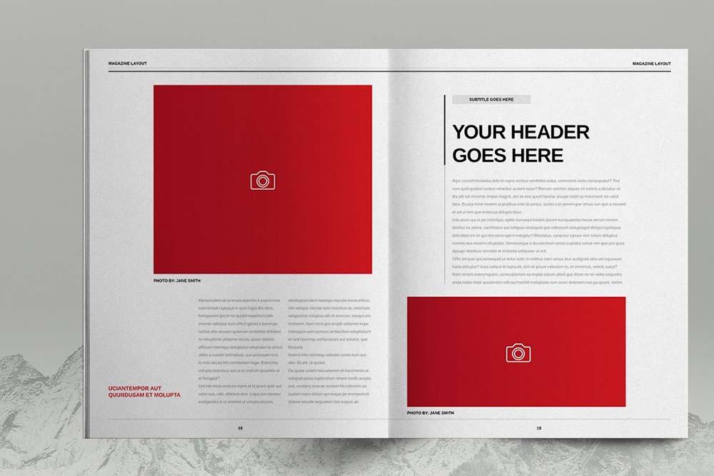 极简主义生活方式杂志模板designshidai_yj612