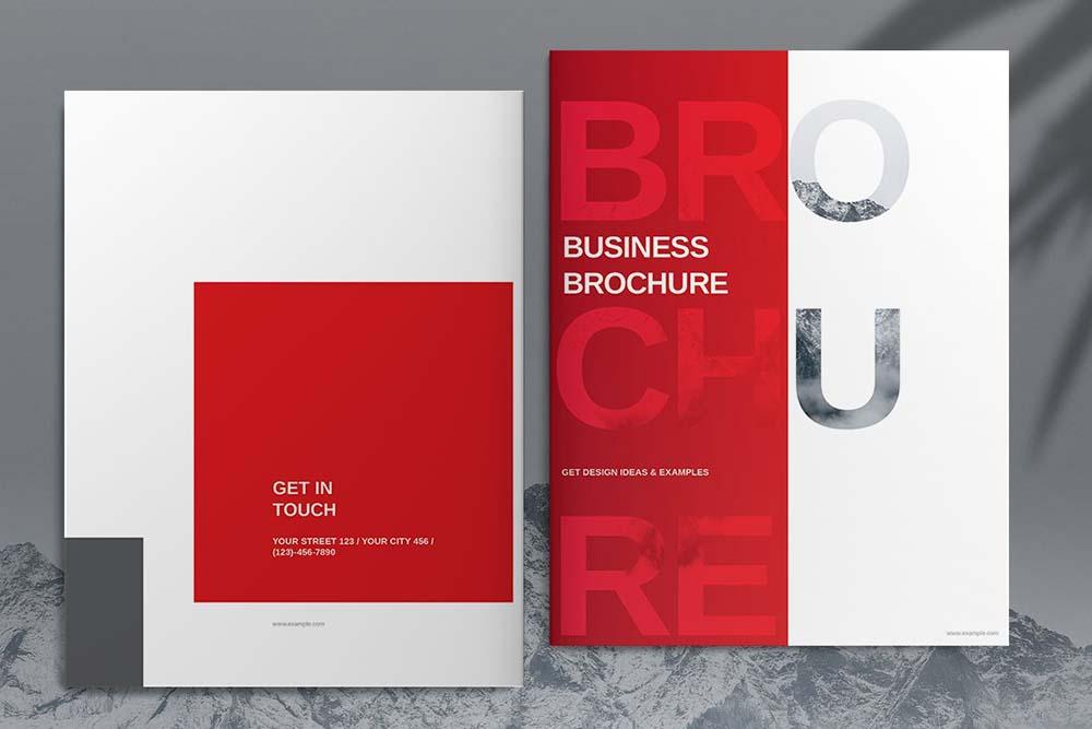 红色业务宣传册设计模板designshidai_yj609