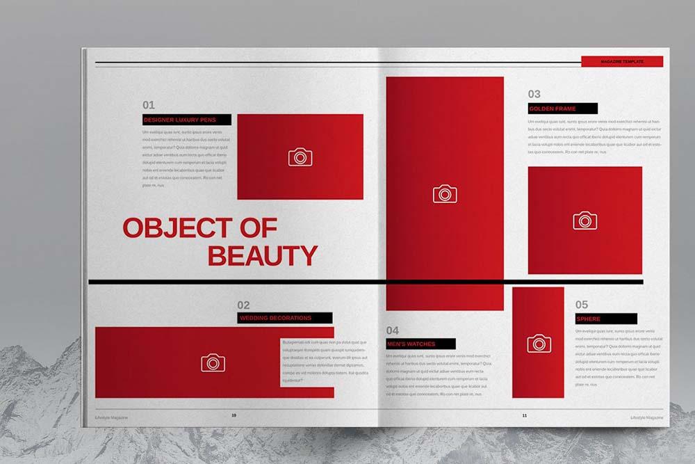 时尚杂志画册排版设计模板designshidai_yj613