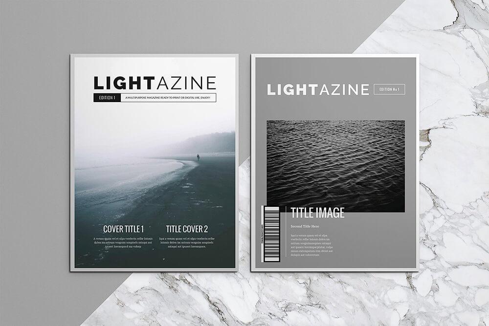 高端现代风格杂志图册模板套装designshidai_yj618