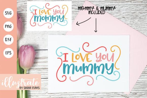 母亲节主题SVG剪切文件素材包designshidai_chahua067