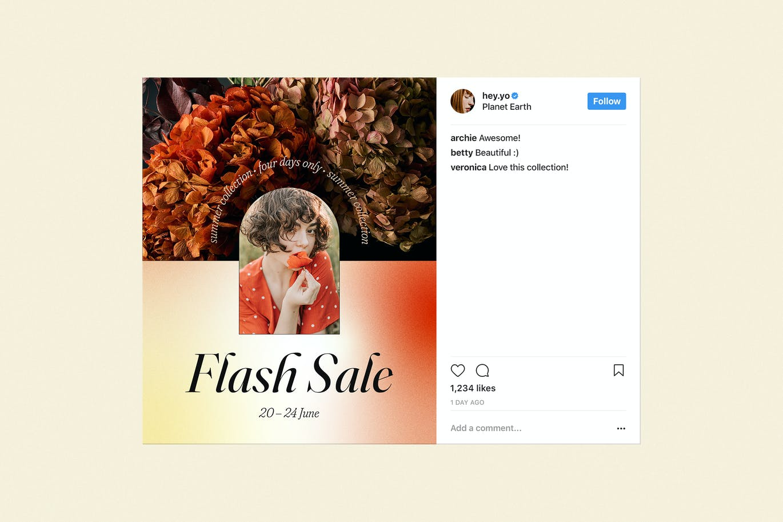 时尚清新高端渐变配色的高品质Instagram社交媒体banner海报设计模板集合designshidai_haibao45