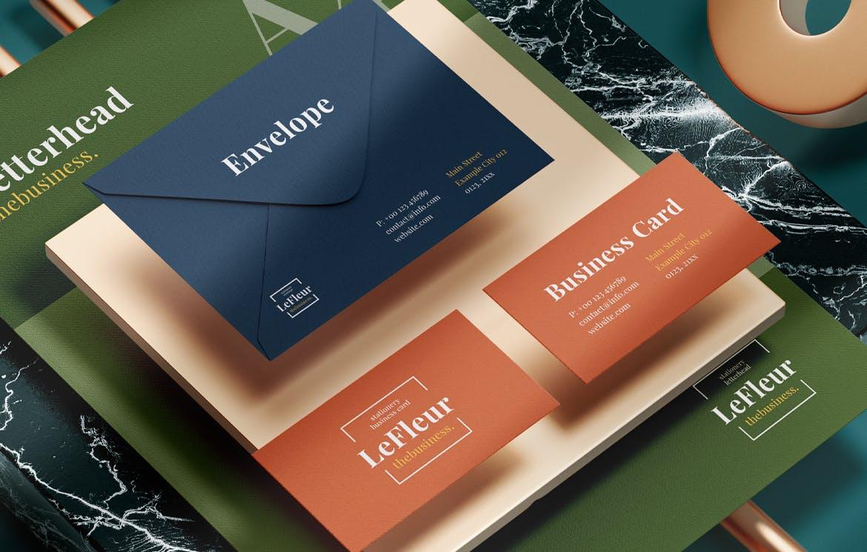 时尚高端现代文具VI设计样机展示模型mockups designshidai_yj697
