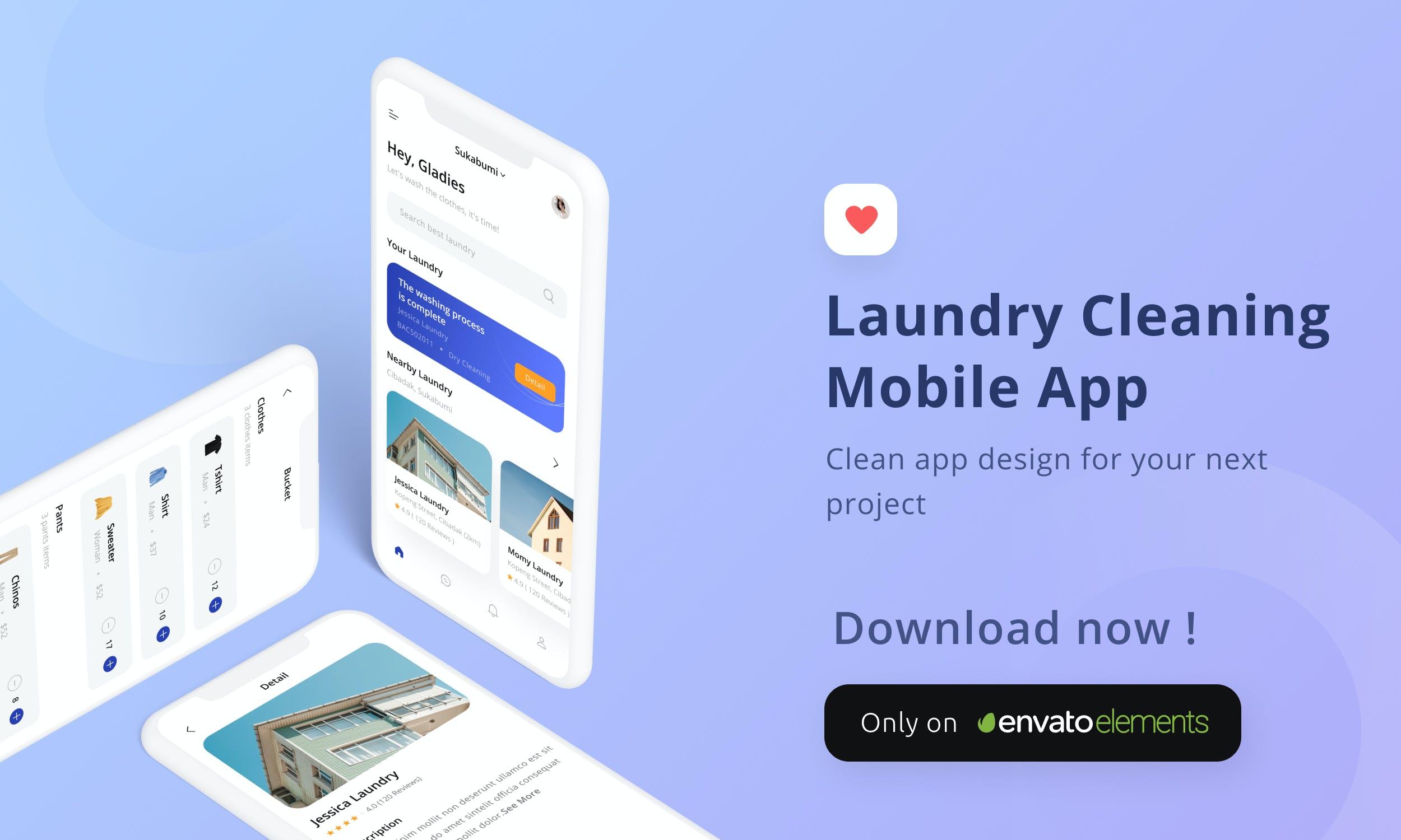 日用生活工具产品设计洗衣房清洁移动应用程序APP UI designshidai_ui203