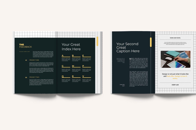 时尚专业的营销建议品牌手册画册宣传册杂志楼书设计模板designshidai_yj624