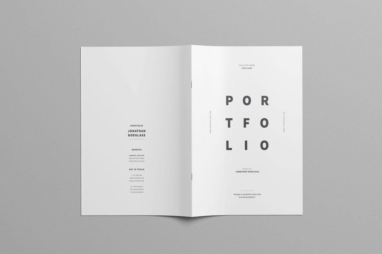 时尚高端简约清新多用途的画册宣传册设计模板designshidai_yj605