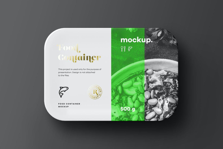 高品质的外卖食品包装设计VI样机展示模型mockups designshidai_yj651