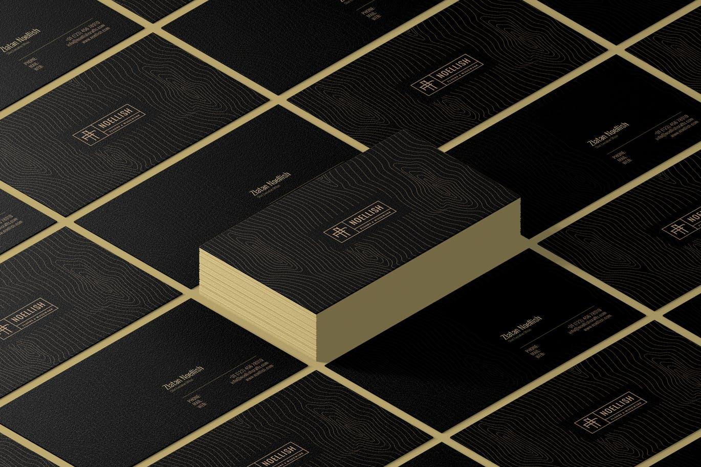 时尚高端专业的高品质黑色奢华名片设计模板designshidai_yj631
