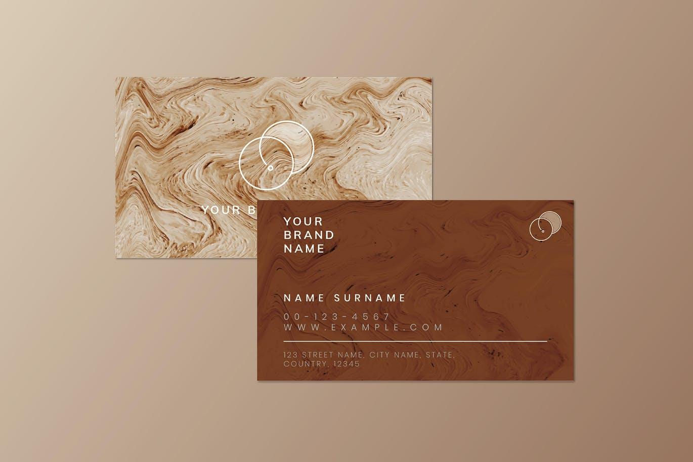 高端时尚优雅轻奢质感房地产名片设计模板designshidai_yj641