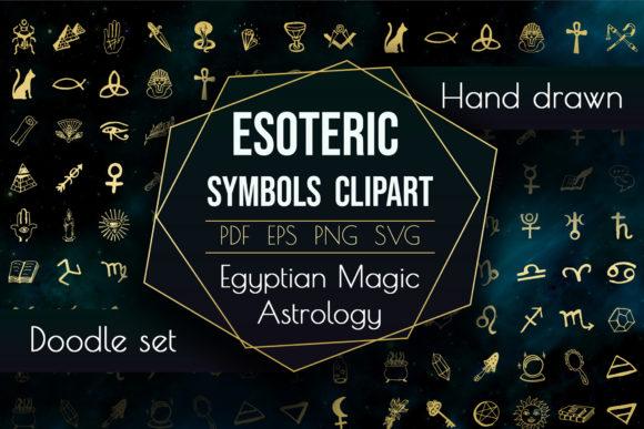 神圣的魔法元素占星术矢量插画designshidai_chahua072